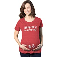 Maternity Happiness Is On The Way Pregnancy Tshirt Cute Baby Hands Tee