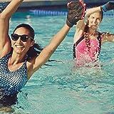 Speedo Aqua Fit Swim Training Gloves, Charcoal/Red, Medium