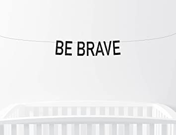 Avery Carey Be Brave Glitter Banner Nursery Decor Birthday Party Sign Childrens Bedroom Home