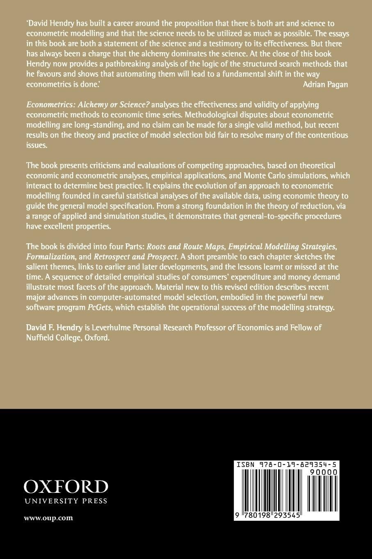 econometrics alchemy or science hendry david f