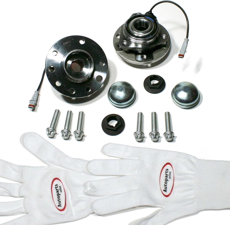 Autoparts-Online Set 60005729 2 x Radnabe//2 x Radlagersatz mit ABS f/ür Vorne//f/ür die Vorderachse