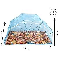 Elegant 3 * 6 Feet Polynet Single/Double Bed Mosquito Net