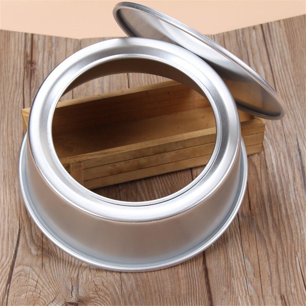 Silver Aluminium anodis/é C: 6 inches anti-adh/ésif profond de moule /à g/âteau rond avec base amovible
