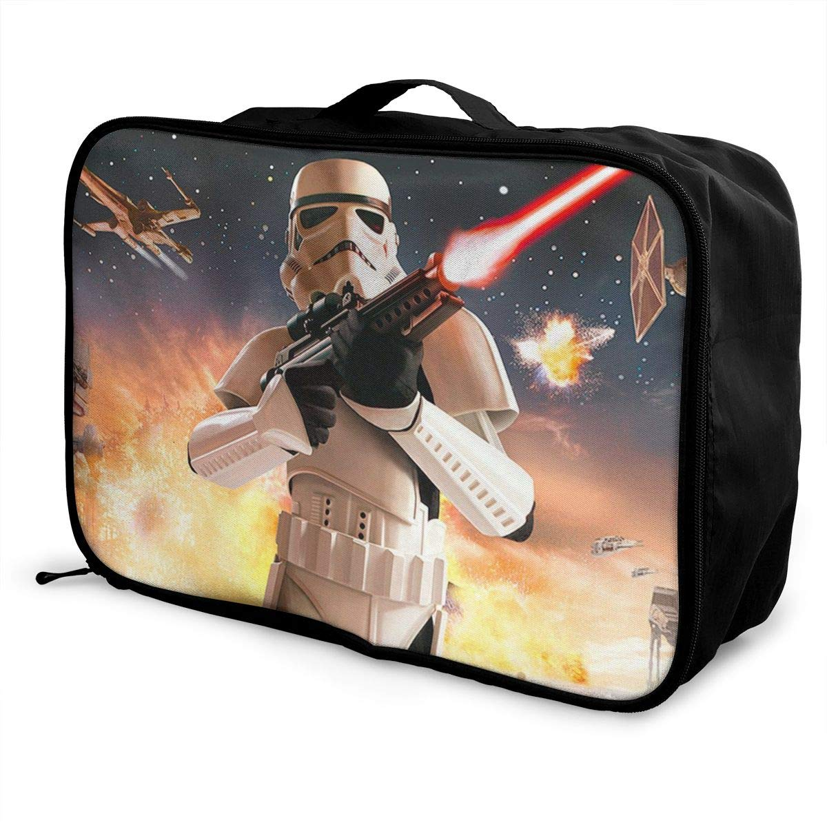 BOKAIKAI1306 Cool S-Star Wars Unisex Adult Fashion Lightweight Large Capacity Portable Large Travel Duffel Bag Mens Women Luggage Bag 3D Pattern DIY Boarding Box