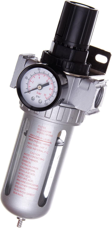 1//2 Filtre R/égulateur de Pression dAir Compresseur 10/µm