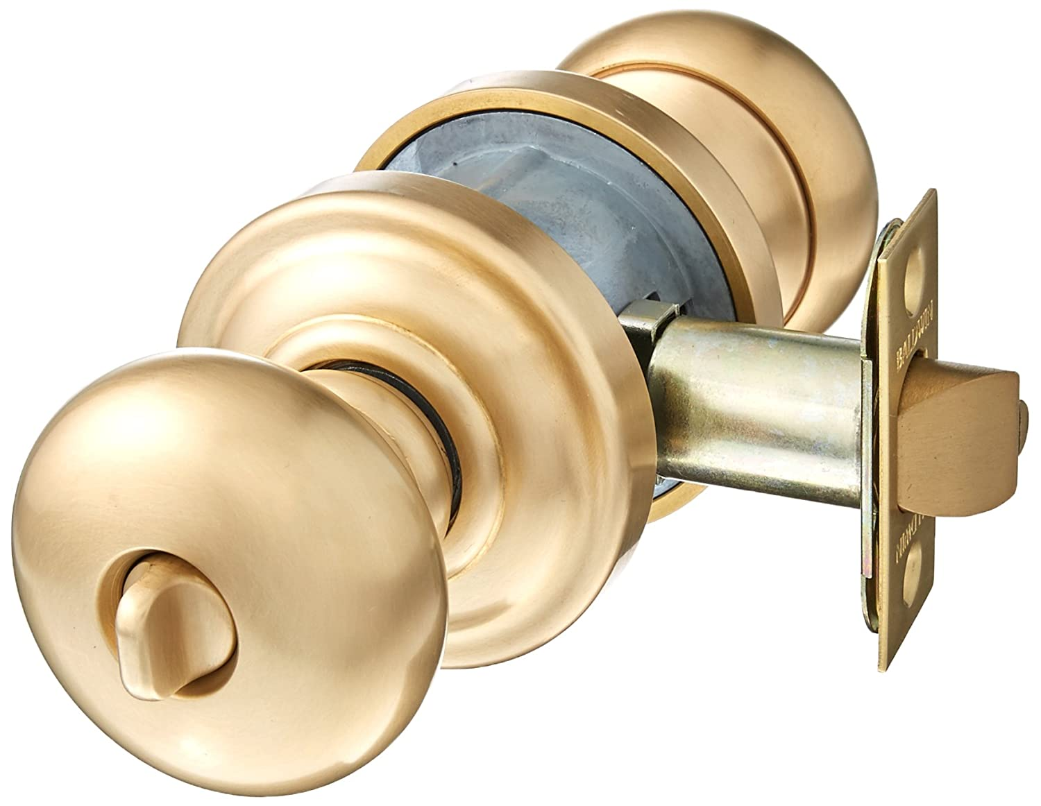 Baldwin 5205.ENTR Classic Style Keyed Entry Door Knob Set with Classic Rosette t, Vintage Brass - Doorknobs - Amazon.com