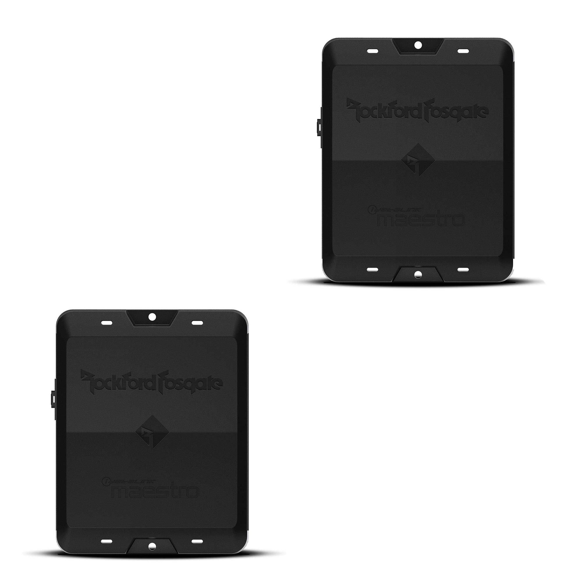 Rockford Fosgate DSR1 8 Channel Interactive iDatalink Maestro Signal Processor (2 Pack)