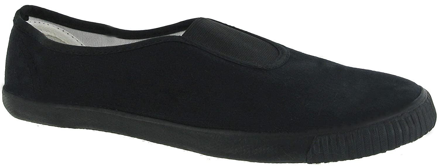 032f17957d22 Direct Schoolwear Unisex Slip On School Plimsolls - Black and White (Style  No. 7231)  Amazon.co.uk  Shoes   Bags
