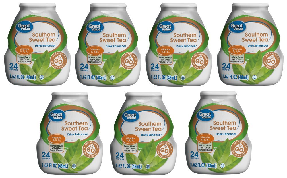Pack of 7 - Great Value Drink Mix, Southern Sweet Tea, 1.62 Fl Oz, 1 Count