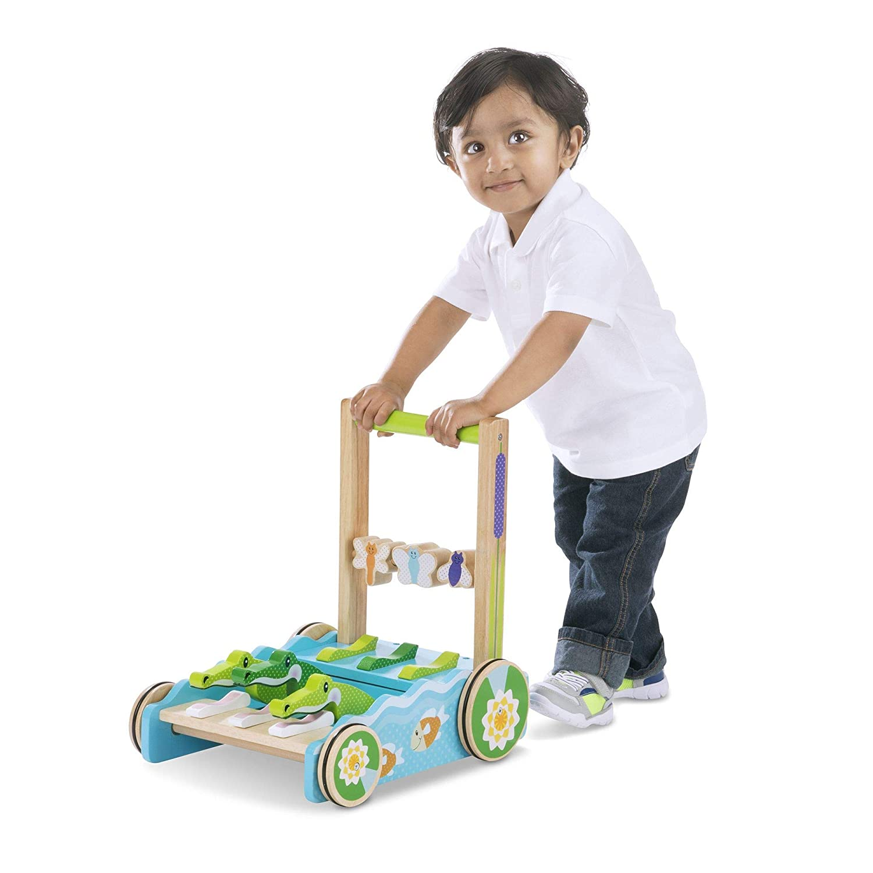 "Melissa /& Doug First Play Chomp /& Clack Alligator Push Toy 15/"" H x 15/"" W x 11.75/"" L 3129 Developmental Toy"