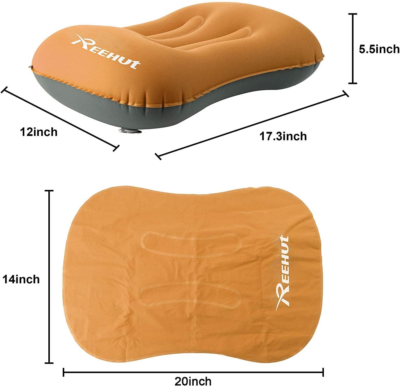 Sleep in Comfort while Camp Backpacking /& Travel REEHUT Ultralight Inflating Travel Camping Pillow Air Pillow Waterproof Lightweight and Comfortable Portable Compact for Neck /& Lumbar