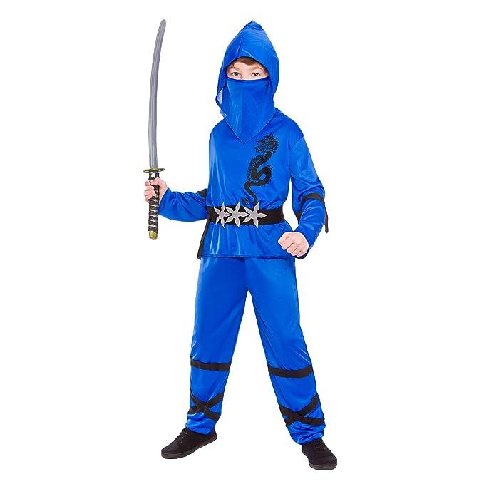 Ninja Nino Disfraz Talla Grande 8-10 años (134-146cm): Amazon.es ...