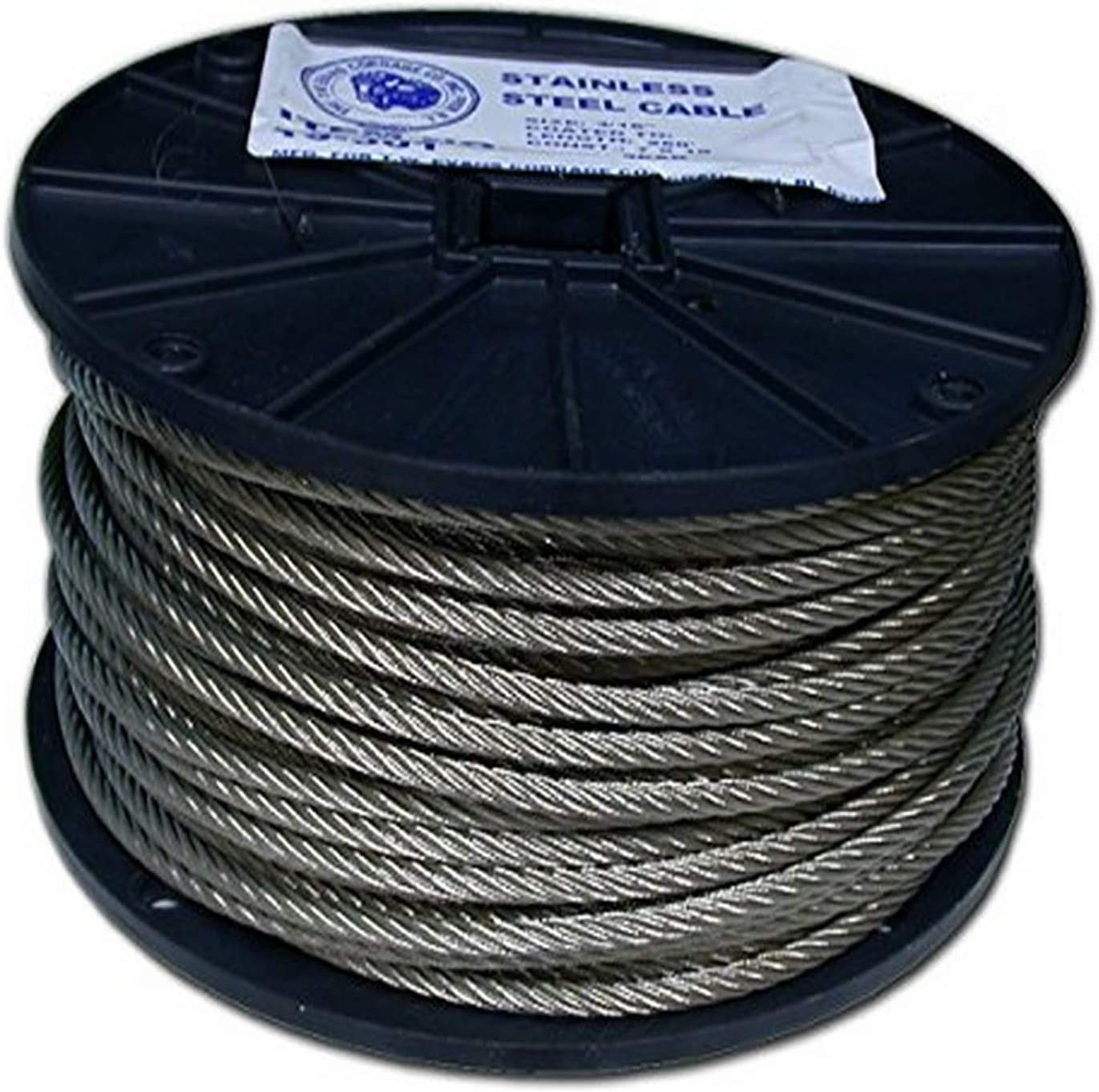 3//16 x 250-Feet T.W Evans Cordage 19-301 Stainless Steel Cable