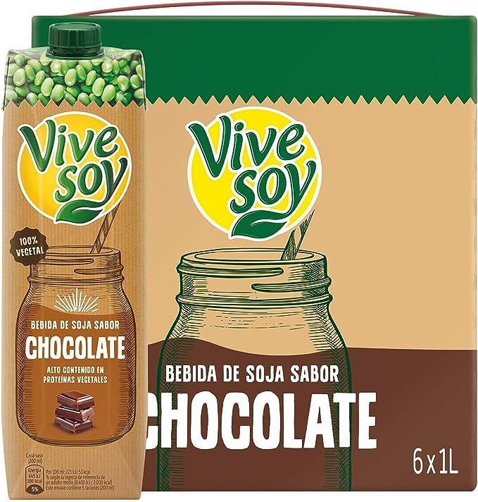 Vivesoy Chocolate - Paquete de 6 x 1000 ml - Total: 6000 ml: Amazon.es: Alimentación y bebidas