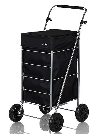 Shoppa - Carro de la compra de 4 ruedas para la compra Balck: Amazon.es: Hogar