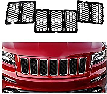 Astra Depot Chrome Honeycomb Grille Grill Inserts Kit Compatible with 2014-2016 Jeep Grand Cherokee Model