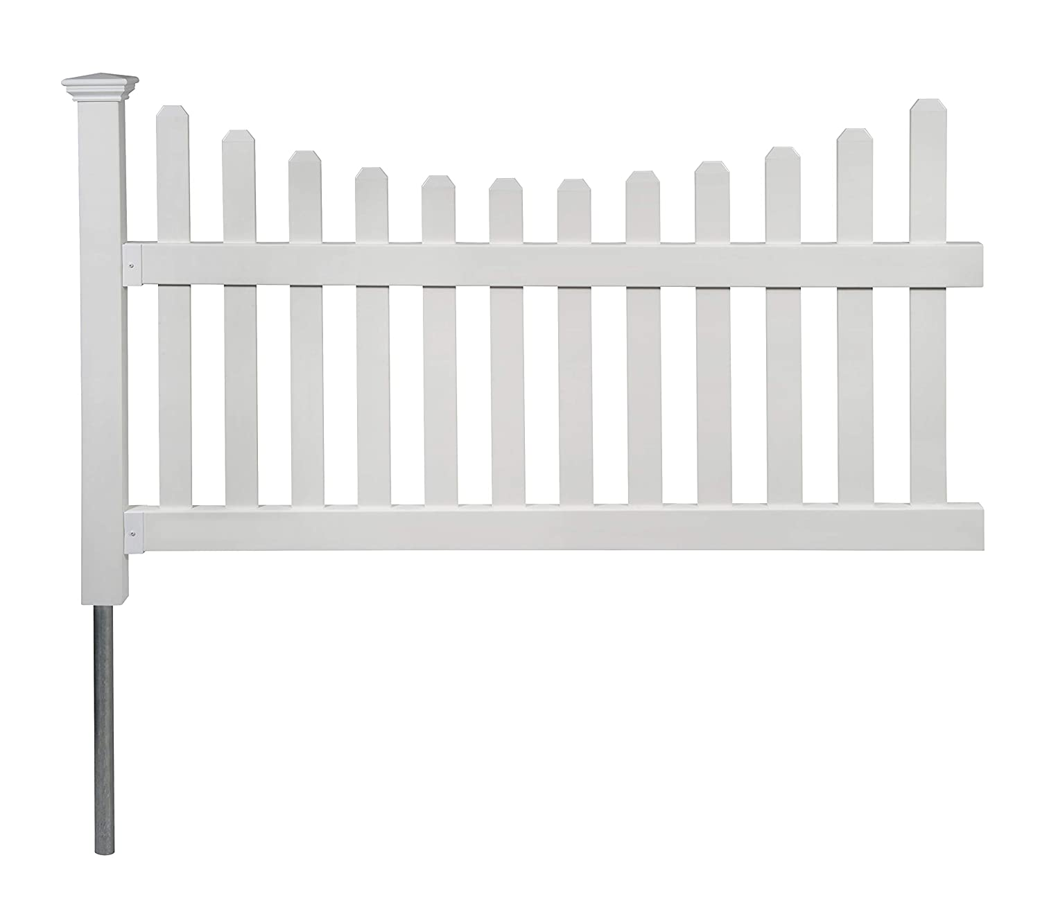 Zippity Outdoor Products ZP19041 All American Fence, White