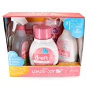 Dreft Baby Laundry Detergent, Stain Remover Spray and to-Go Pen, Scent Booster Blissfuls, and All Purpose Cleaner Gift Pack