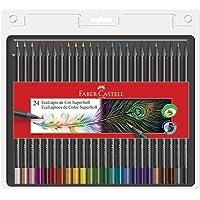 Lápis de Cor EcoLápis Supersoft 24 Cores, Faber-Castell