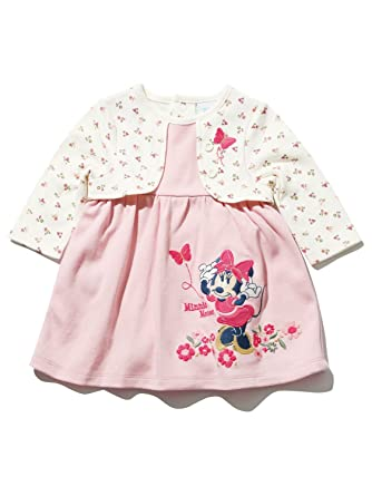 Newborn Baby Girls Disney Minnie Mouse Character Long Sleeve Pink