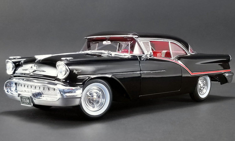 NEW DIECAST TOYS CAR ACME 1:18 1957 OLDSMOBILE SUPER 88 (BLACK) A1808004