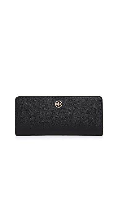 7c0c500bd06 Amazon.com: Tory Burch Women's Robinson Slim Wallet, Black/Royal ...