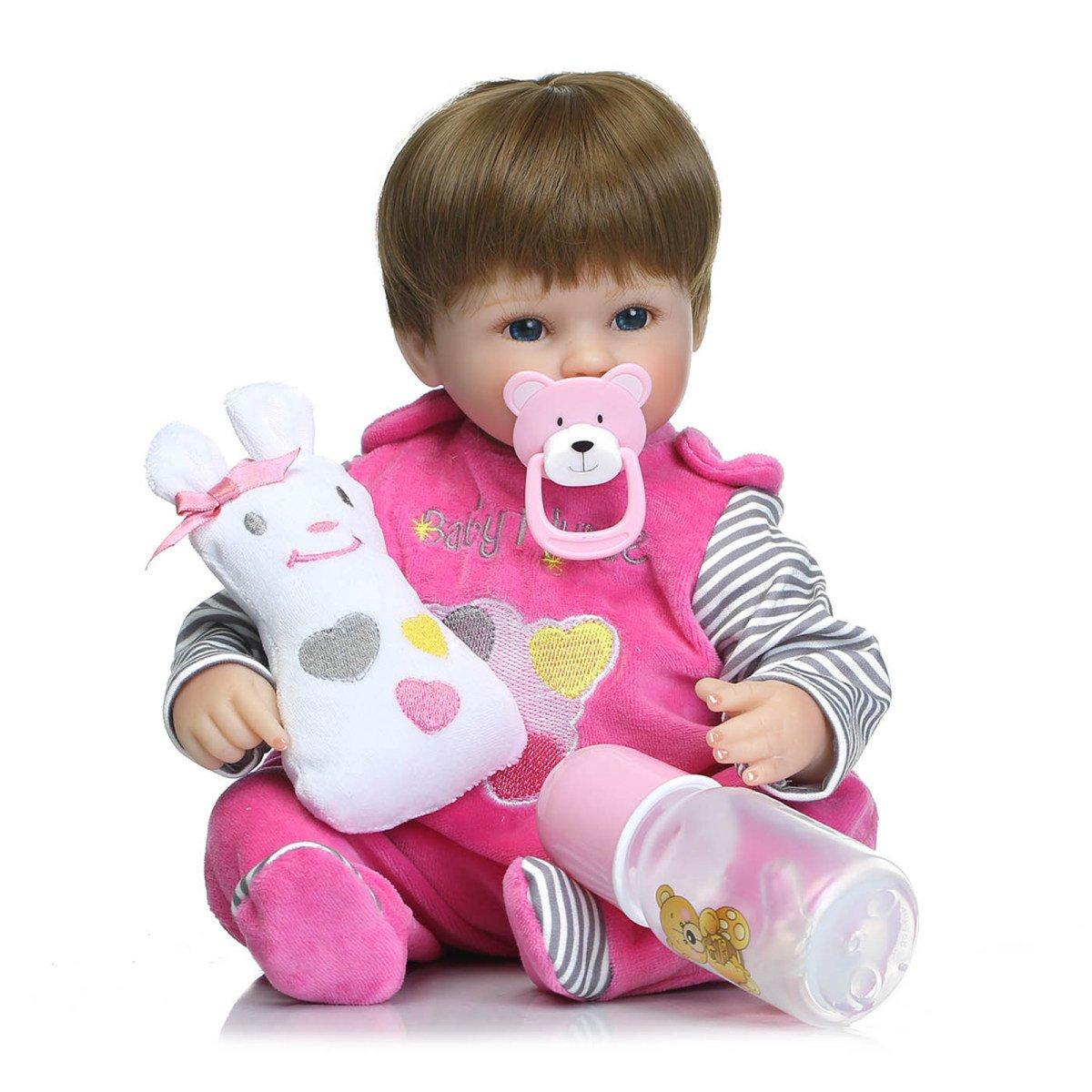 Silikon Vinyl Reborn Baby Puppen Handgemachte Lebensechte Realistische Baby Puppe Weiche Simulation 16 Zoll 42 Cm Augen öffnen Kinder Lieblings Geschenk