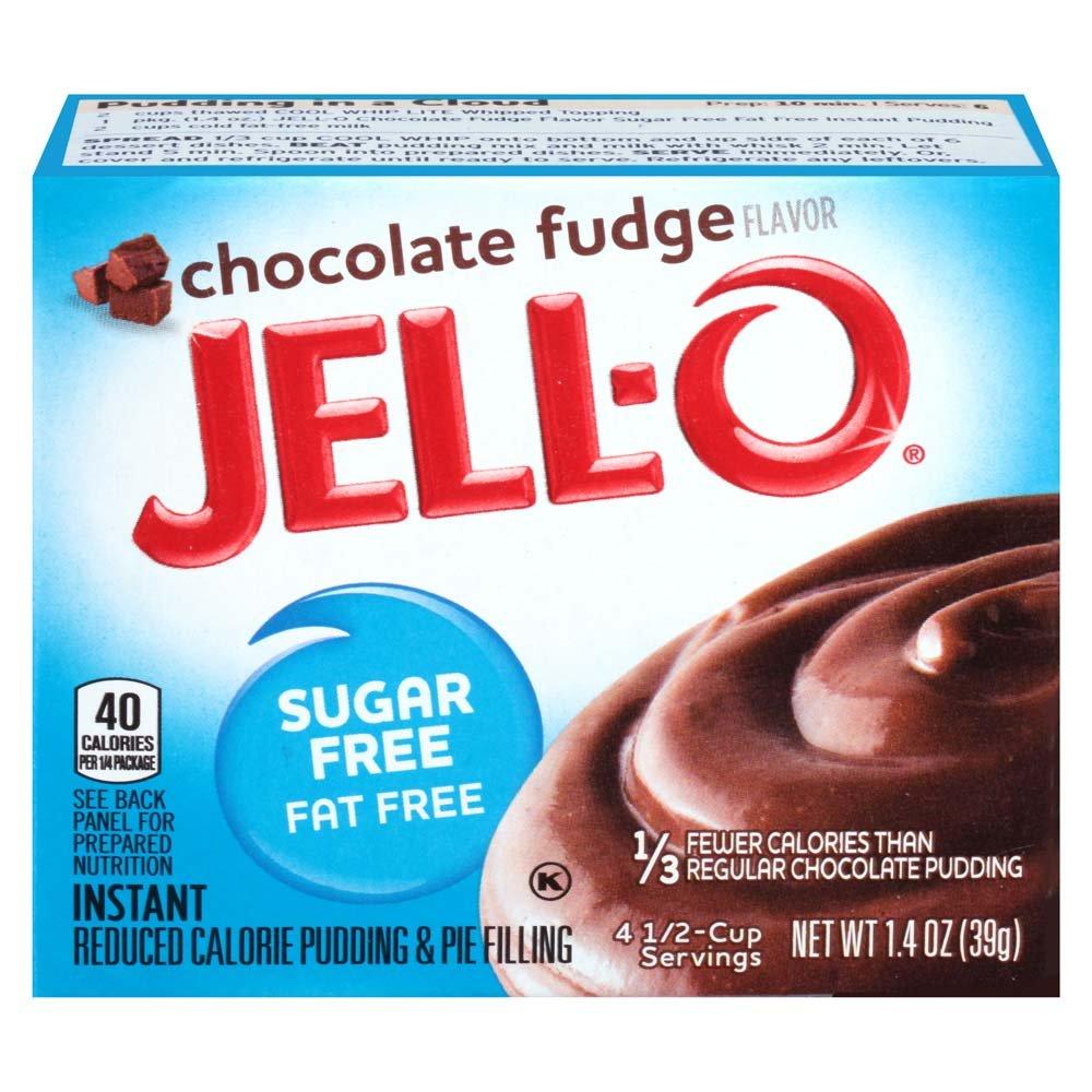 Jell-O - Mezcla de pudín instantánea sin azúcar Caja de 1,4 onzas (paquete de 6) Chocolate Fudge: Amazon.es: Alimentación y bebidas