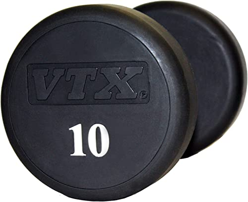 Troy VTX Round Urethane Dumbbells Pairs 5-125 lbs