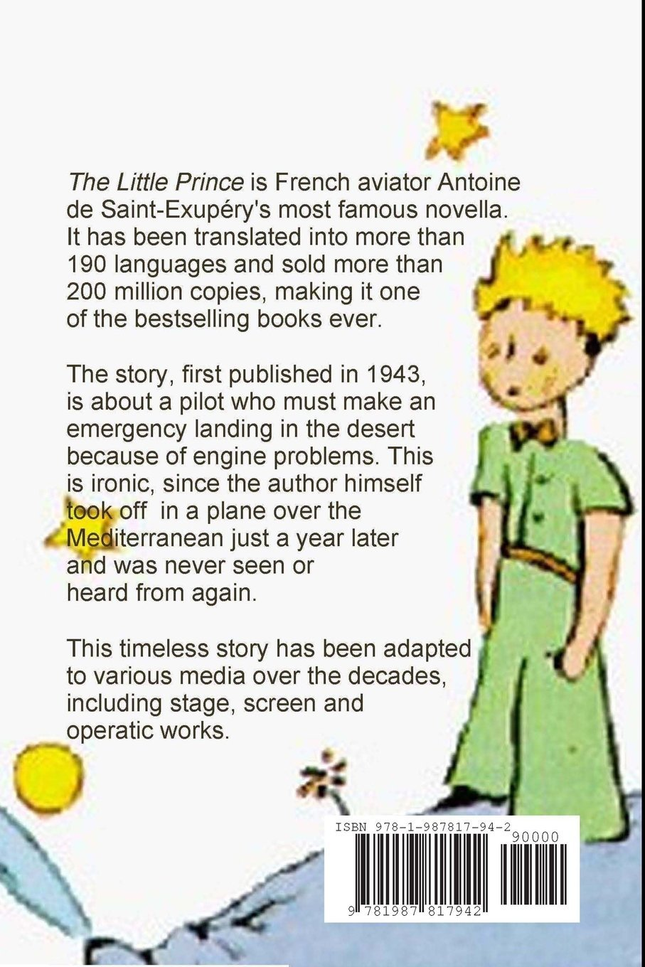 the little prince antoine de saint exup eacute ry evan kahler the little prince antoine de saint exupeacutery evan kahler katherine woods 9781987817942 com books
