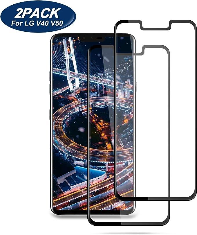 Xiaoki - Protector de pantalla para LG V40 ThinQ/LG V50 ThinQ ...