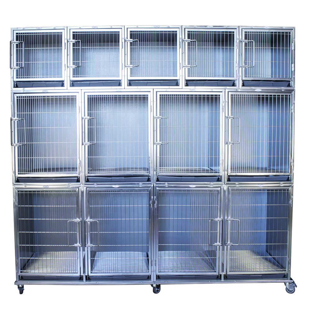 Paw Brothers Professional PBP89430K Full Bank Modular Stainless Steel Hybrid Cage System
