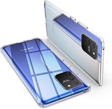 ORNARTO Funda para Samsung S10 Lite, Transparente Delgada Silicona Flexible Ajuste Proteger Caso Absorción de Golpes Parachoques Protective Carcasa para Samsung Galaxy S10 Lite(2020) 6,7