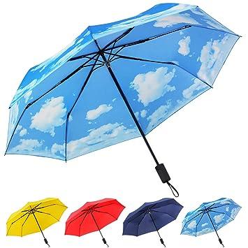 Amazon.com: Paraguas compacto plegable de viaje, resistente ...