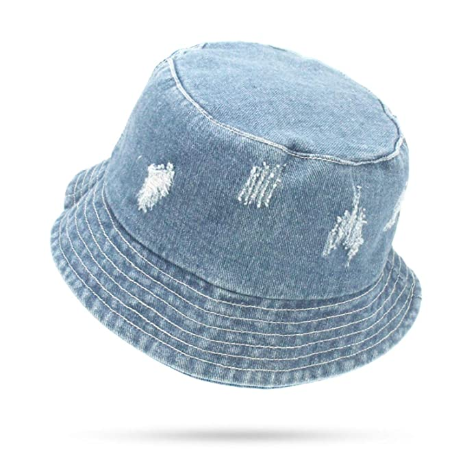 Summer Washed Denim Sun Hat Women Floppy Cap Ladies Beach Bucket Hats  Cotton Foldable Fishing Fisherman Hats at Amazon Women s Clothing store  2b27952dde13