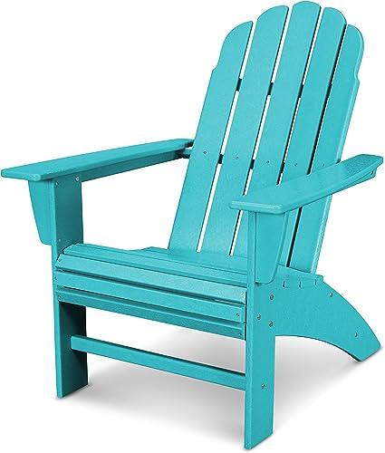 POLYWOOD Vineyard Curveback Adirondack Chair Aruba