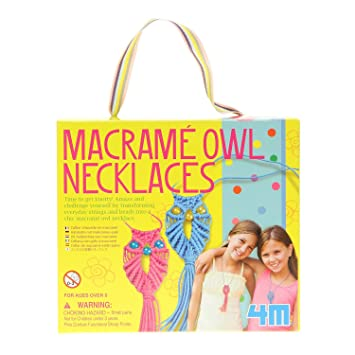 Make your own fashion macrame owl necklaces create your own kit make your own fashion macrame owl necklaces create your own kit popular creative negle Image collections
