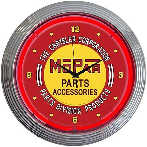 Neonetics Mopar Vintage Neon Wall Clock, 15-Inch