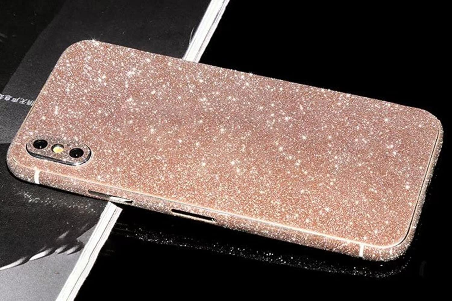 Omio for iPhone 11 Glitter Skin Sticker Ultra Thin Sparkle Bling Diamond Full Body Wrap Covered Edges Precise Fit Dustproof Anti Fingerprint Scratch-Resistant Skin Decal for iPhone 11