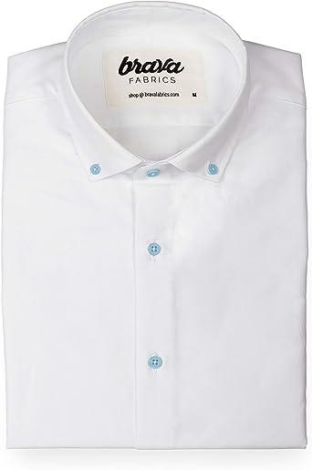 Brava Fabrics | Camisa Blanca para Hombre | 100% Algodón
