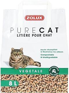 Litière - Litière Pure Cat Végétale Naturelle 8 L
