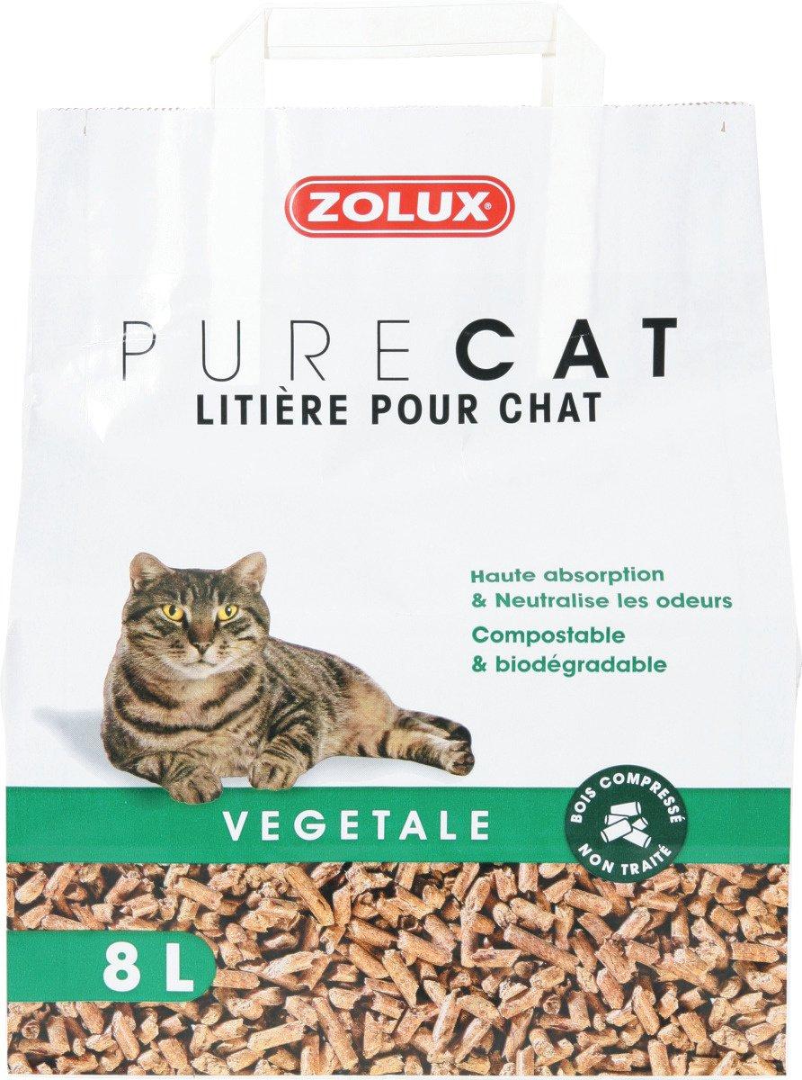 Litière - Litière Pure Cat Végétale Naturelle 8 L Zolux
