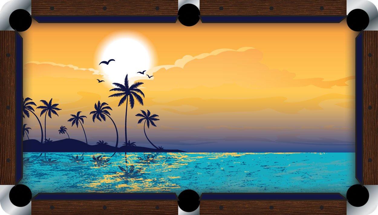 プールテーブルFeltビリヤードCloth – Vivid – Paradise B01E5Z41TQ  9 foot