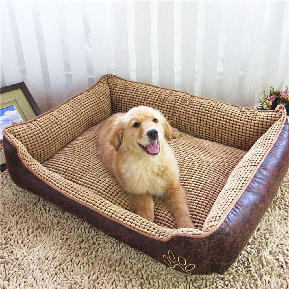 yuting extraíble suave perro cama Vintage Pet cueva con funda lavable, impermeable para pequeñas, medianas, grandes, extra grande y perros con almohadas y ...