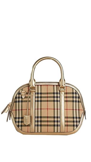 a8172de202fd Burberry Horseferry Check and Leather Clutch - Honey Gold  Handbags   Amazon.com