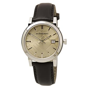 8715c2affb0 Amazon.com  Burberry Fawn Dial Brown Leather Mens Watch BU9011 ...