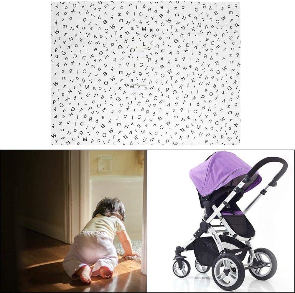 Baby Stroller Canopy Nursing Cover Car Seat Canopy for Toddler Boy Girl Lightweight Breathable Sunshade Blanket #1