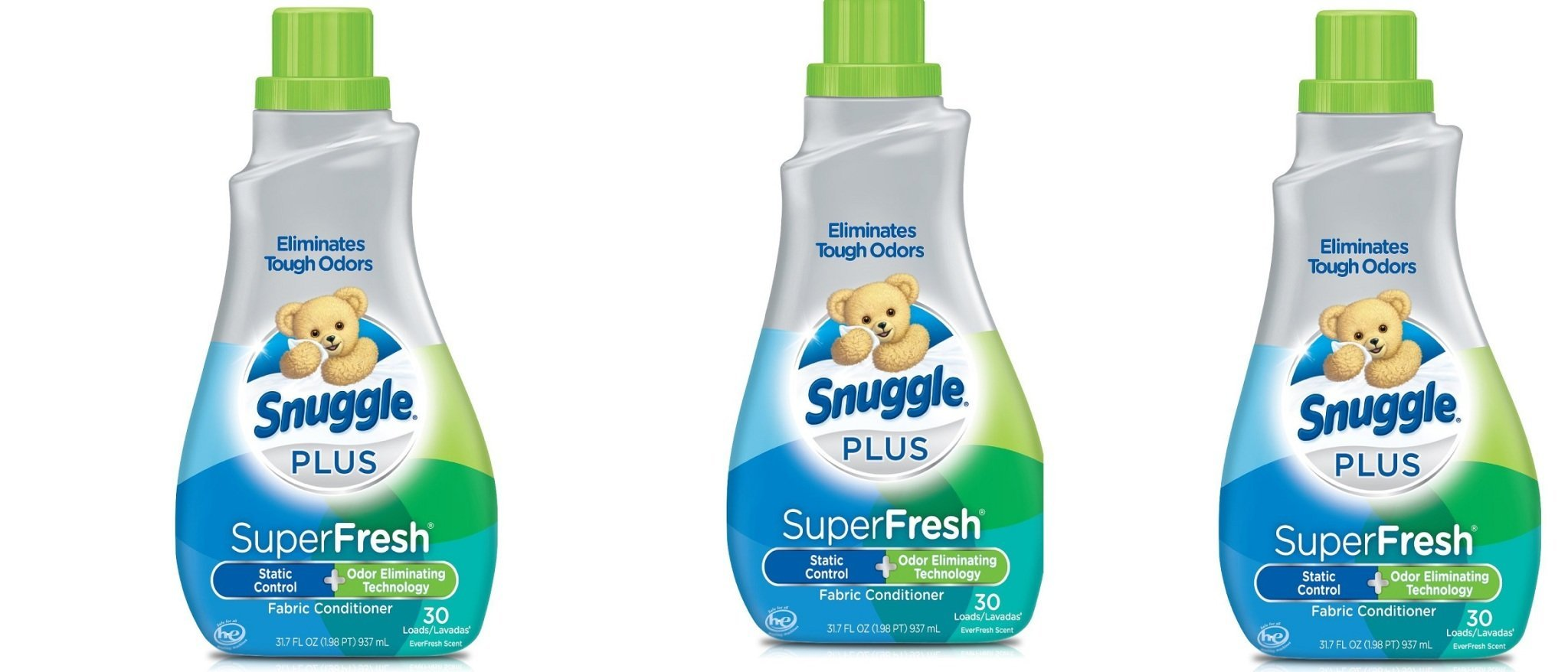 Snuggle Plus Super Fresh Fabric Softener with Odor Eliminating Technology PRaNtp, 3Pack (31.7 Ounce)