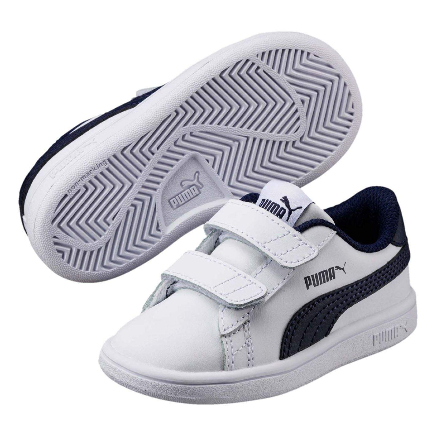 23a91f4e10298 Amazon.com: Puma Smash Suede Fun Court Trainers Infant Boys Shoes ...