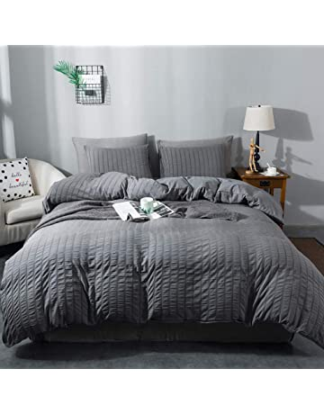 Euphoric Gifts 100/% Pure Cotton Black, Double Includes x1 Duvet Cover x2 Pillowcases and x1 Fitted Sheet 4 Piece Complete DOUBLE Duvet Cover Bed Set in Plain Black Egyptian Cotton